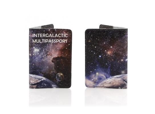 Кожаная обложка на паспорт Галактика фото