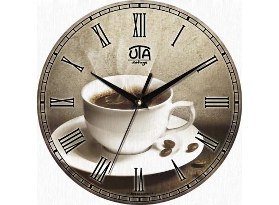 Часы настенные круглые Чашка Кофе фото