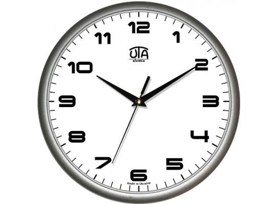 Часы настенные круглые стальные Классика фото