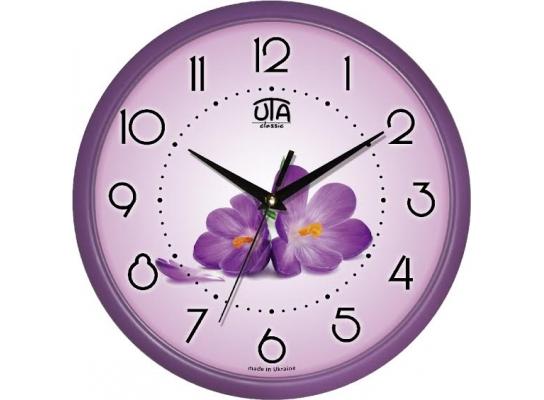 Часы настенные круглые Фиалки фото