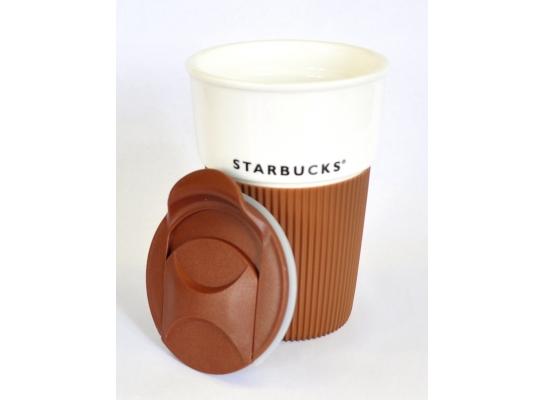 Керамическая термочашка с крышкой фото