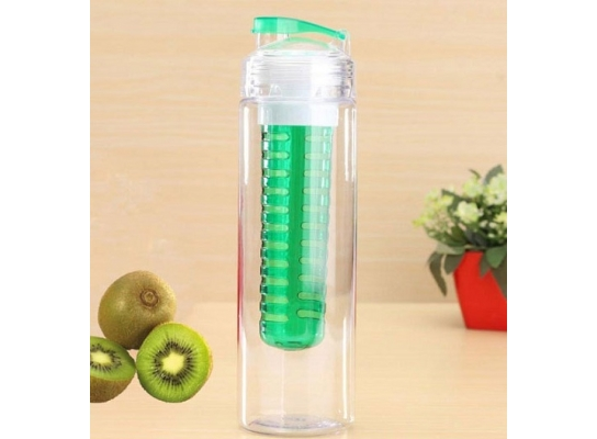 Бутылка со съемным отделом для фруктов Зеленая фото