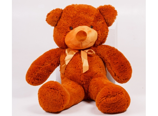 Плюшевый медведь Тедди 100 см Коричневый фото 2