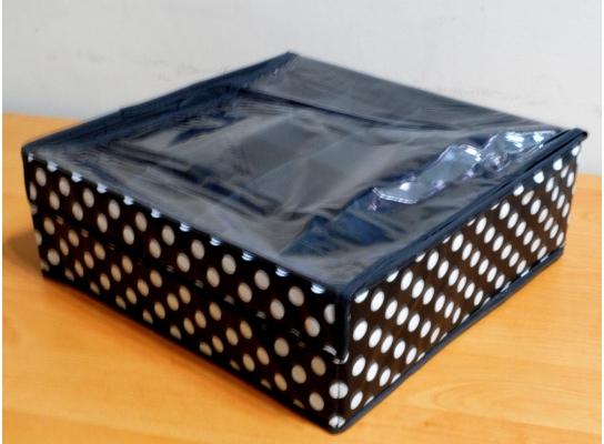 Органайзер для белья 16 секций с крышкой в горох фото 1
