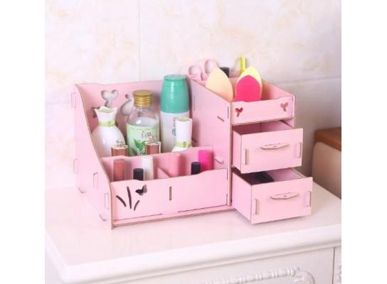 Комод настольный для косметики, украшений, фурнитуры Розовый фото