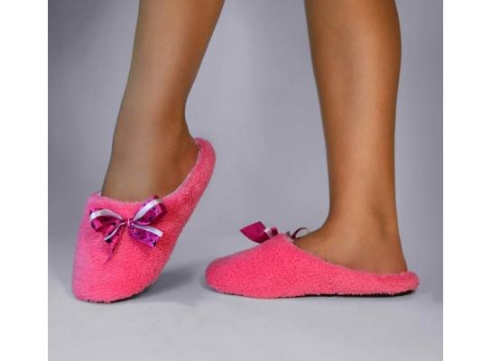 Тапочки комнатные Розовые с атласной ленточкой фото