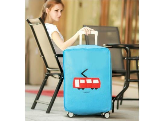 Чехол на чемодан для защиты от царапин и загрязнений фото