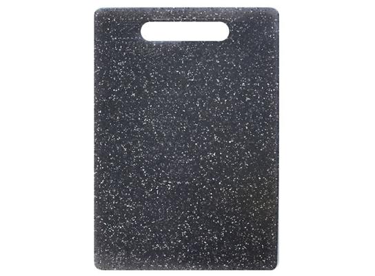 Доска разделочная пластик Мрамор черная 30х20 см фото