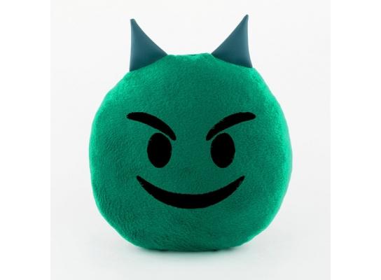 Подушка Смайлик Добрый чертёнок зеленый фото
