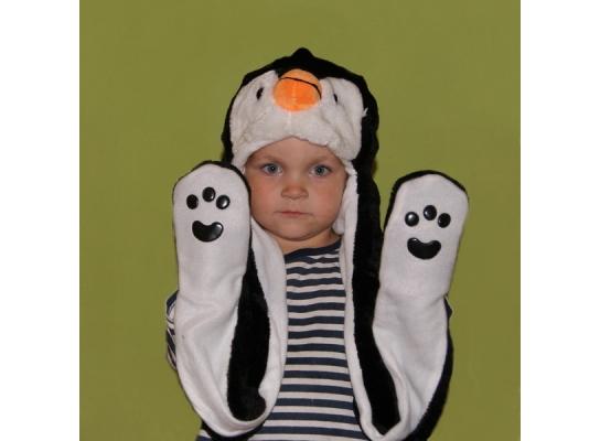 Шапка с лапками Пингвин фото