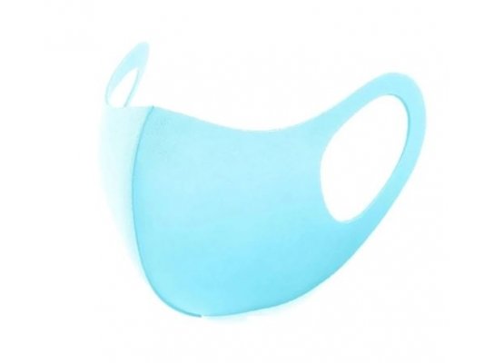 Маска защитная трехслойная многоразовая для взрослых Голубая фото 7
