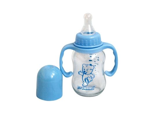 Бутылочка с ручками Синяя 125 мл фото