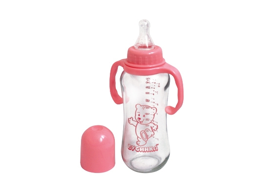 Бутылочка с ручками Розовая 250 мл фото