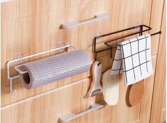 Держатель с крючками для бумажных полотенец, пищевой пленки, чашек фото