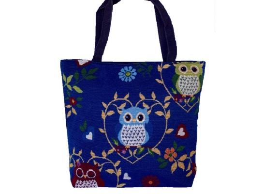 Летняя текстильная сумка для пляжа и прогулок Совы фото 3