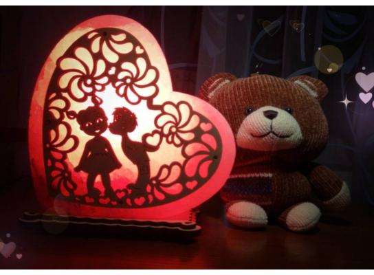 Соляная лампа Сердце любовь фото