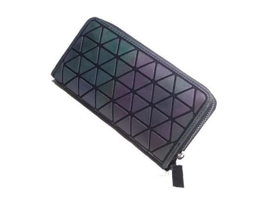 Женский кошелек клатч хамелеон из треугольников фото