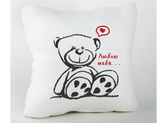 Подушка для влюбленных Люблю Тебя фото