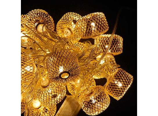 Гирлянда колесо фортуны Золото LED 20 фото