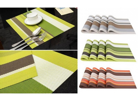 Комплект из 4-х сервировочных ковриков фото
