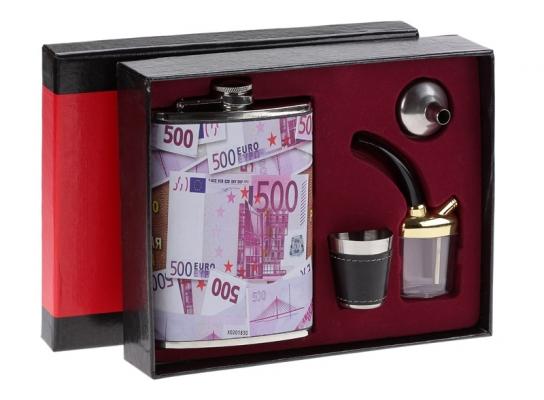 Набор для виски с флягой Евро фото