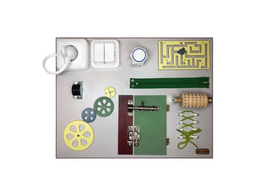 Бизиборд Шестеренка и дверь Разноцветный фото