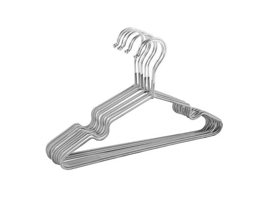 Набор металл. вешалок с силиконовым покрытием Серебро (10 шт) фото 2