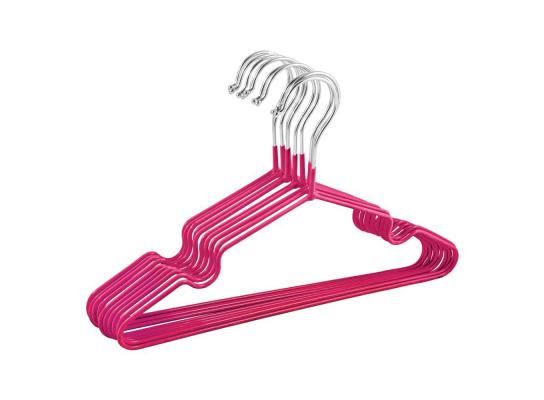 Набор металл. вешалок с силикон. покрытием Розовый (10 шт) фото