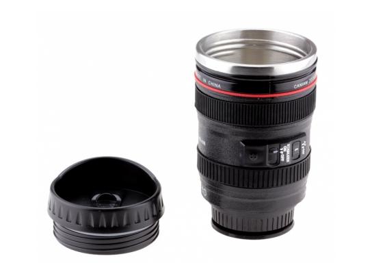 Чашка термос фотообъектив с присоской Caniam 300 мл. фото