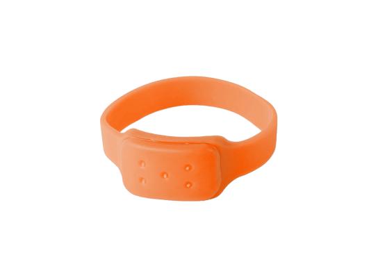 Силиконовый браслет от комаров MINI оранжевый фото