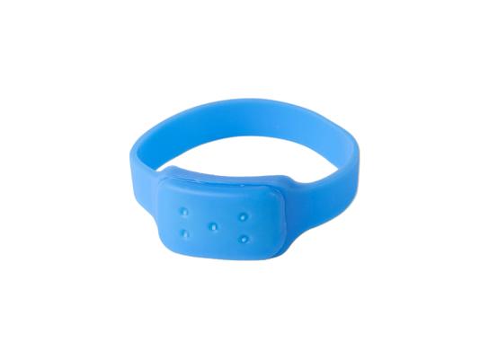 Силиконовый браслет от комаров MINI синий фото