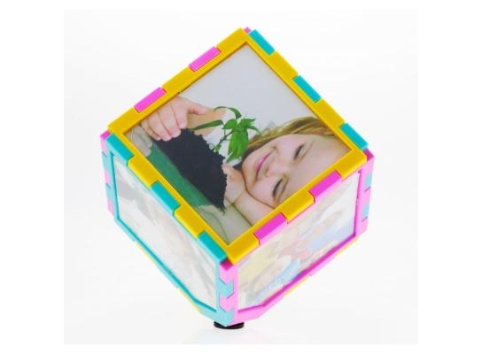 Фоторамка куб - пазлы вращающийся фото