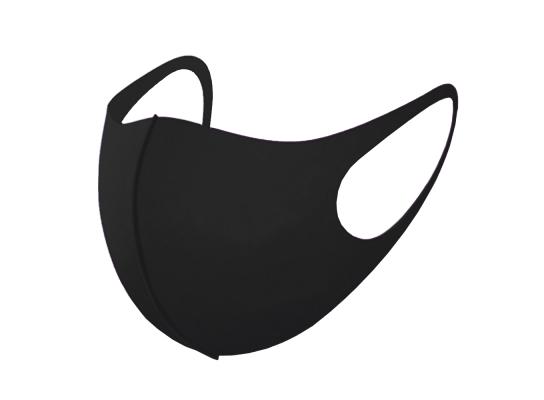Трехслойная защитная маска многоразовая черная фото 4