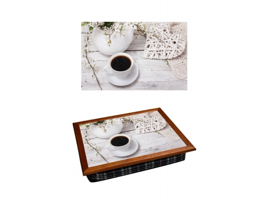 Поднос с подушкой Белоснежный Завтрак фото