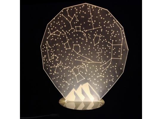 Светильник Оптический обман звездного неба фото 3