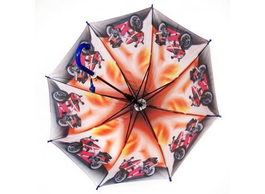 Детский зонт - трость для мальчиков полуавтомат фото
