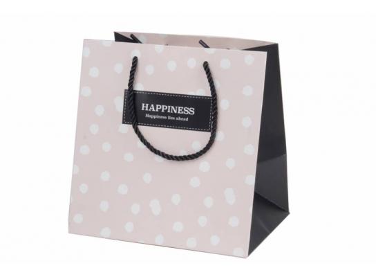 Пакет подарочный Happiness розовый фото 1