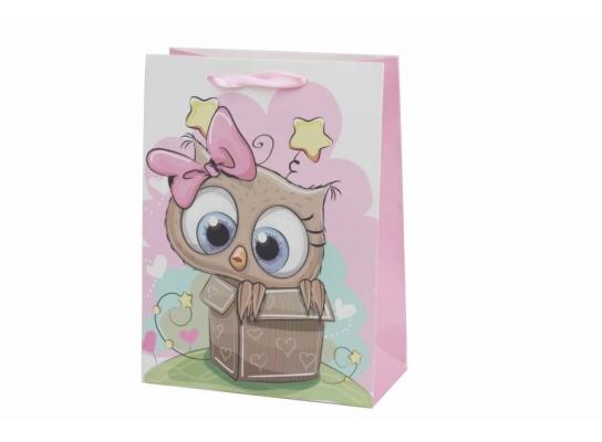 Пакет подарочный Совушка со свездочками фото 1