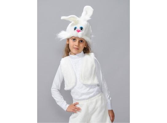 Детский карнавальный костюм Белоснежный заяц фото