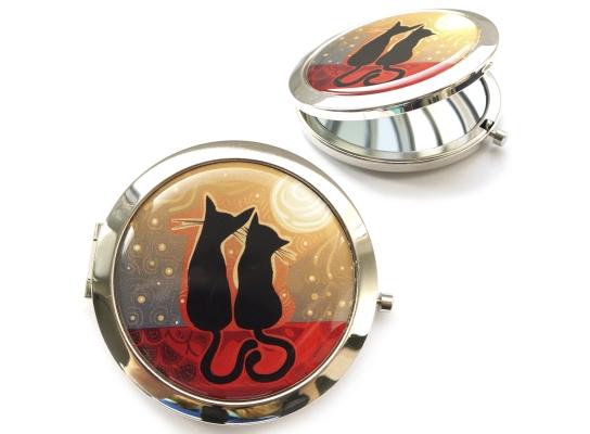 Зеркальце Котики на закате фото