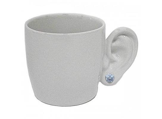 Чашка Ухо с серьгой фото