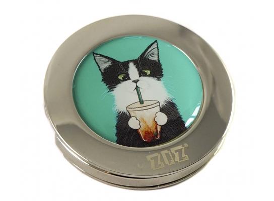 Держатель для сумки Кот со стаканом фото