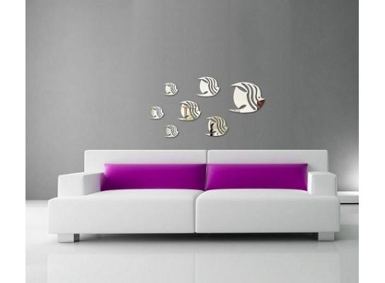 Декоративное акриловое зеркало Рыбки фото