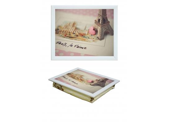 Поднос с подушкой Открытка из Парижа фото