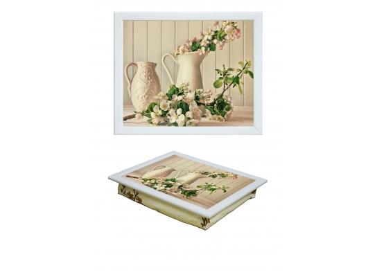 Поднос с подушкой Цвет вишни фото