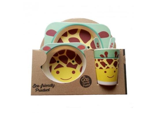 Набор детский Бамбук Желтый Жираф фото 1