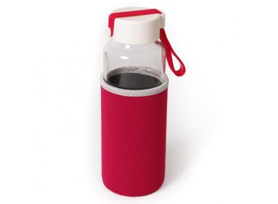 Бутылка для питья стеклянная Millennium 450 мл с термочехлом фото