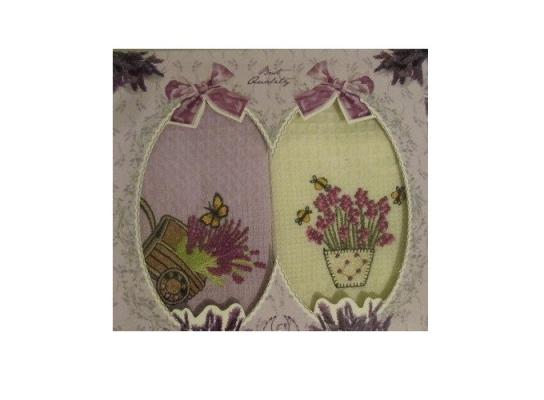 Подарочный набор полотенец для кухни Лаванда фото