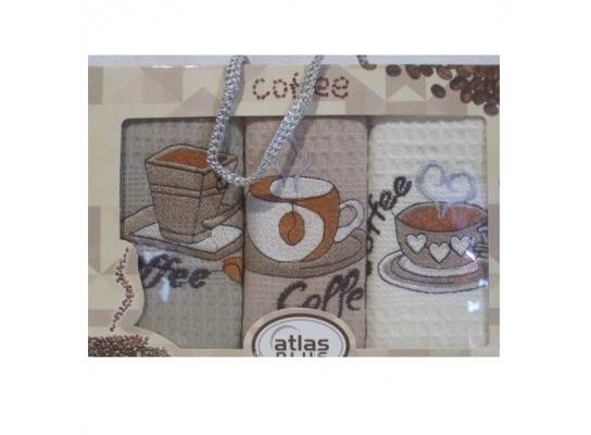 Подарочный набор полотенец для кухни Coffee фото