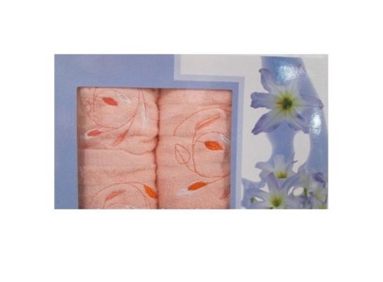 Подарочный набор махровых полотенец Цветы фото